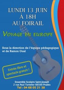 affiche voyage en europe
